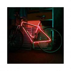 Kit fir luminos decorativ tuning cadru bicicleta rosu 3 M