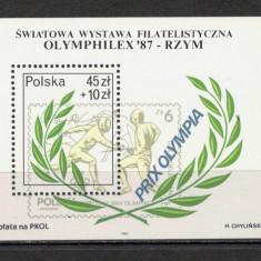 Polonia.1987 Expozitia filatelica OLYMPHILEX-Bl. SP.382 - Timbre straine, Nestampilat