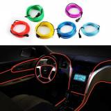 Fir cu lumina ambientala auto decorativ luminos neon flexibil 3M Rosu