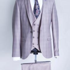 Costum carouri bej barbati Franco 2017 model - Sacou barbati, Marime: 48
