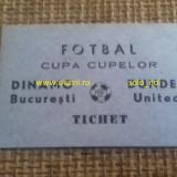 Bilet Invitatie DINAMO - DUNDEE UNITED 1988-1989 Cupa Cupelor 1