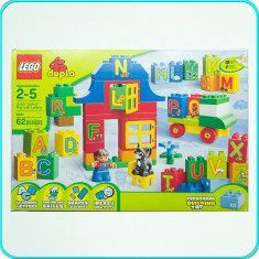LEGO ® Duplo → Joc de construit cu litere → 2 - 5 ani | 62 piese | 4 activitati