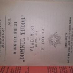 DOMNUL TUDOR DIN VLADIMIRI - N.IORGA, 1906 - Carte veche
