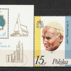 Polonia.1987 Vizita Papei Ioan Paul II SP.376 - Timbre straine, Nestampilat