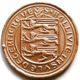 BRITISH GUERNSEY, CHANNEL ISLANDS, 1 PENNY 1979, PESCARUS !, Europa, Cupru (arama)