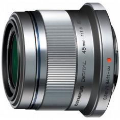 Olympus Obiectiv Olympus M.Zuiko Digital 45mm 1:1.8 / ET-M4518 (Argintiu)