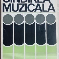PASCAL BENTOIU (COMPOZITOR RCM): GANDIREA MUZICALA (1975) - Carte Arta muzicala