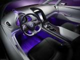 Fir cu lumina ambientala auto decorativ luminos neon flexibil 3M Violet