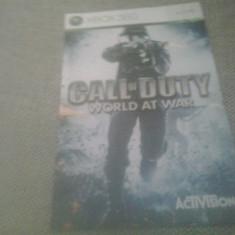 Manual - Call of Duty - World at war  - XBOX 360