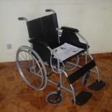 Fotoliu rulant din otel pentru interior si exterior, inclusiv antifurt cu 2 chei - Scaun cu rotile