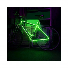 Kit fir luminos decorativ tuning cadru bicicleta Verde 3 M - Accesoriu Bicicleta, Faruri si semnalizatoare
