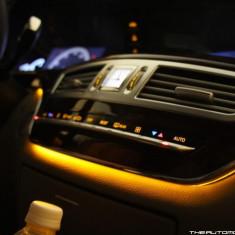 Fir cu lumina ambientala auto decorativ luminos neon flexibil 3M Galben