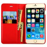 Husa Business Piele Pentru iPhone 6/ 6S Plus, iPhone 6 Plus, Rosu