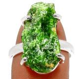 Inel deosebit cu Smarald brut(mas. 7)-Ag 925 - Inel argint