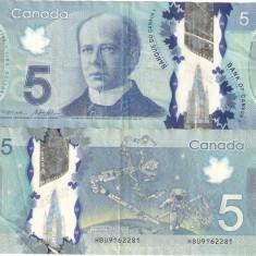 CANADA 5 $ / 2015. - bancnota america