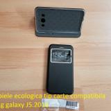 Husa piele ecologica tip carte compatibila samsug galaxy J5.2016, Alt model telefon Samsung, Negru