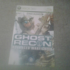 Manual - Tom Clancy's - Ghost Recon - Advanced Warfighter   - XBOX 360