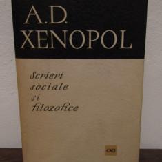 SCRIERI SOCIALE SI FILOZOFICE-A.D.XENOPOL - Istorie