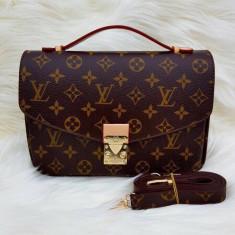 Geanta poseta Louis Vuitton mettis pouchette - Geanta Dama Louis Vuitton, Culoare: Maro, Marime: Medie