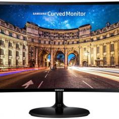 "Monitor VA LED Samsung 23.5"" LC24F390FHUXEN, Full HD (1920 x 1080), HDMI, VGA, 4 ms, Ecran Curbat (Negru) - Monitor LED Samsung, 23 inch"