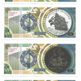 !!! CUBA - SET 6 BANCNOTE DE PREZENTARE AMBARCATIUNI COLONIALE 2013 - UNC - bancnota america
