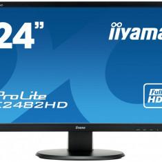 Monitor LED Iiyama ProLite E2482HD, 24 inch, 16:9, 5 ms, negru