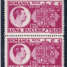 ROMANIA 1938, LP 125, LUNA BUCURESTILOR PERECHE SERII MNH - Timbre Romania, Nestampilat