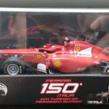 Macheta Formula 1 Ferrari 150 Italia Fernando Alonso 2011 -HotWheels Elite 1/43 - Macheta auto