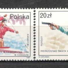 Polonia.1987 Medaliati la campionate mondiale SP.384 - Timbre straine, Nestampilat