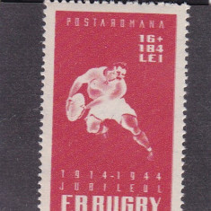 ROMANIA 1944 , LP 164 , RUGBY  SERIE MNH