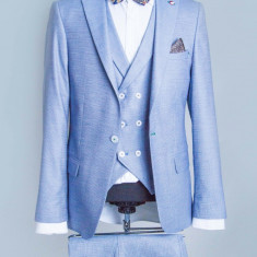 Costum bleu barbati PerfectFit New Collection - Sacou barbati, Marime: 48