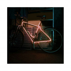 Kit fir luminos decorativ tuning cadru bicicleta orange 3 M