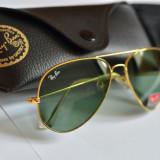 Ochelari de soare Ray Ban Aviator lentila sticla toc inclus