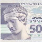 Bancnota Grecia 500 Drahme 2014 - SPECIMEN ( proba pe hartie cu filigran ) - bancnota europa