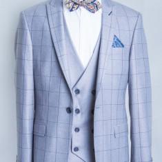 Costum carouri gri barbati Cesare 2017 model - Sacou barbati, Marime: 48