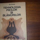 TEHNOLOGIA PIEILOR SI BLANURILOR ( rara, format mai mare, cartonata ) *