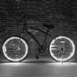 Kit luminos tuning si personalizare roti janta sau jante bicicleta 4 M Alb, Faruri si semnalizatoare