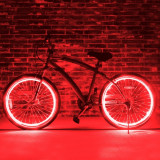 Kit luminos tuning si personalizare roti janta sau jante bicicleta 4 M Rosu - Accesoriu Bicicleta, Faruri si semnalizatoare