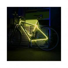 Kit fir luminos decorativ tuning cadru bicicleta galben 3 M