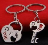Set Breloc Chei Pentru Cuplu / Indragostiti - LOVE YOU - Set 2 Bucati - Model 3