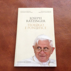 Carte l Italiana - Joseph Ratzinger / Teologo e Pontefice anul 2012 - 86 pagini - Carte in italiana