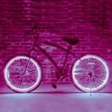 Kit luminos tuning si personalizare roti janta sau jante bicicleta 4 M Violet, Faruri si semnalizatoare