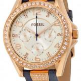 Fossil ES3887 Riley ceas dama nou 100% orginal. Garantie livrare rapida., Casual, Quartz, Inox, Piele, Data