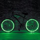 Kit luminos tuning si personalizare roti janta sau jante bicicleta 4 M Verde, Faruri si semnalizatoare