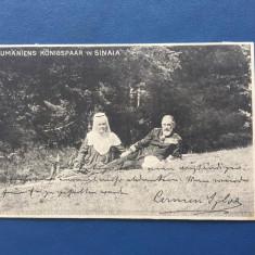 Sinaia - Familia Regala - Autograf - Carte Postala Muntenia 1904-1918, Circulata, Fotografie