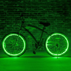 Kit luminos tuning si personalizare roti janta, jante bicicleta 4 M Verde lemon - Accesoriu Bicicleta, Faruri si semnalizatoare