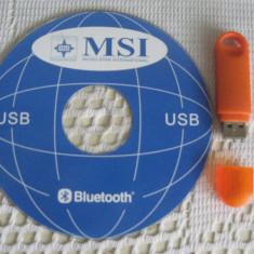 Adaptor Stick Bluetooth 2.0.  pentru PC sau Laptop  cu CD Software inclus.