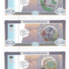 !!! CUBA - SET 6 BANCNOTE DE PREZENTARE FAUNA DIN CARAIBE II 2012 - UNC - bancnota america