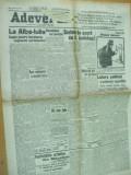 Adevarul 18 august 1922 Argetoianu Alba - Iulia Brasov Husi Roman Dorohoi Bacau