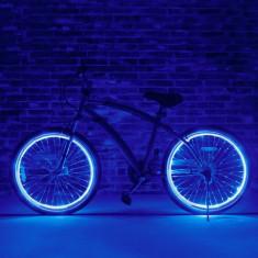 Kit luminos tuning si personalizare roti janta sau jante bicicleta 4 M albastru